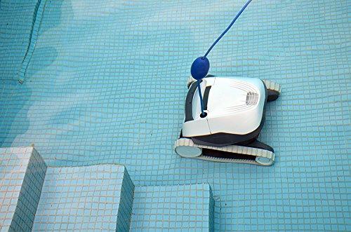 Dolphin E10 Poolroboter in einem Pool mit Stufen